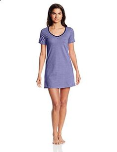 Bottoms Out Women s Short Sleeve V-Neck Nightie 3a168ef80