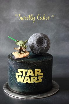 SMBC Cake with galaxy effect by airbrush http://www.sweetlycakes.com https://www.facebook.com/Sweetlycakesdesign/