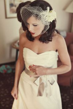 Great photos of vintage glam wedding decorating and style ideas - red lips, red nails.