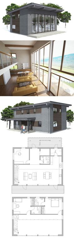 DesertRose,;,plan de petite maison,;,