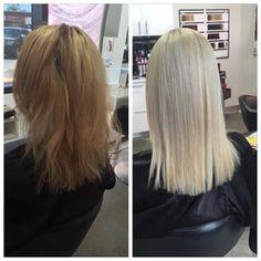 at Epic Hair Designs we love big changes likes this one done in salon a natural blonde to platinum #platinum #healthy #olaplex #goldwell #eipchairdesigns #blonde #bigchange