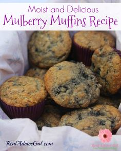 Moist and oh so delicious mulberry muffins recipe Muffin Recipes, Baking Recipes, Breakfast Recipes, Dessert Recipes, Baking Tips, Easy Desserts, Bread Recipes, Cake Recipes, Mulberry Recipes