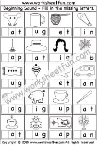 Phonics – Beginning Sounds / FREE Printable Worksheets – Worksheetfun