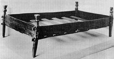Photo of a 10th Century Norwegian Bed found in Gokstad burial