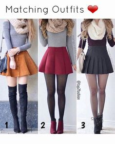 Skirt outfits for winter, date outfits, winter outfits with skirts, outfits for teens Teen Fashion Outfits, Girly Outfits, Cute Fashion, Outfits For Teens, Trendy Outfits, Style Fashion, Cute Skirts, Cute Dresses, Cute Outfits With Skirts