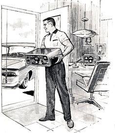 1959 ... large car radio!