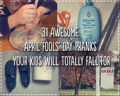 31 Awesome April Fools' Day Pranks Your Kids Will Totally Fall For. Such a fun list of simple and easy pranks. Pranks For Kids, April Fools Pranks For Adults, Work Pranks, Pranks Ideas, Easy Pranks, Jokes Kids, Kids Up, Funny Pranks, Awesome Pranks