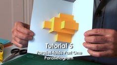 Pop-Up Tutorial 5 - Parallel-folds Part 1 Parallelogram