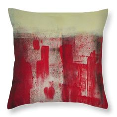 Abstract Throw Pillow featuring the painting Fot Your Valentines by Vesna Antic