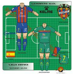 Levante CF of Valencia, Spain kits for Valencia Spain, Football Kits, Wetsuit, Club, Logos, Shirts, Note Cards, Soccer Kits, Scuba Wetsuit