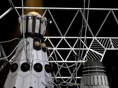 Twitter / @DannyDangerOz: Playing with my old CG Dalek models - Emperor Dalek from 1967, with a Black Dalek.