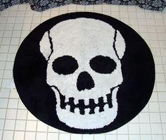 Skull Bath Rug Cody S Rock N Roll Bathroom Maybe
