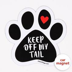 I LOVE MY DOG Dog Paw Magnet Car Truck File Cabinet Refrigerator USA NEW
