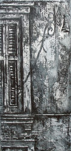 Venetian Balcony » Ian Murphy Prints Decay Art, Intaglio Printmaking, Art Alevel, A Level Art, Landscape Drawings, Gcse Art, Urban Sketching, Environmental Art, Illustration Sketches