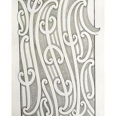 Related image Maori Tattoo Designs, Maori Tattoos, Maori Patterns, Nz Art, Maori Art, Art Carved, Art N Craft, Painting Patterns, Tribal Art