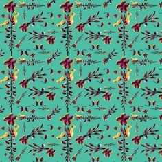 Estampa têxtil 'Sapatinho de judia' por Ana Isa Zanesco