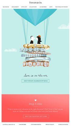 Beautiful imagery from Tiffany & Co #emailmarketing #email #digitalmarketing