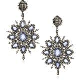 Sutra: One of a Kind 18k Gold Blue Sapphire Starburst Dangle Earring