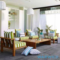 green outdoor fabric