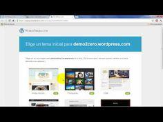 Cómo crear una página web gratis como blog en Wordpress.com - HD, 2012