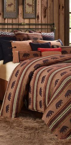 Bayfield Lodge Bedding | Add luxury to your bedroom with the Bayfield Moose or Bear Bedding Collection.