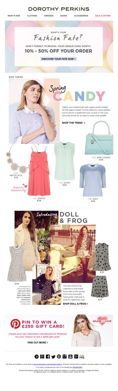 Dorothy Perkins - Spring Candy email design