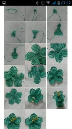 Details about 1 yard Flower Pearl Lace Edge Trim Wedding Bridal Ribbon Applique Sewing Crafts Beaded Flowers Patterns, Beading Patterns, Seed Bead Tutorials, Beading Tutorials, Crochet Flower Tutorial, Crochet Flowers, Irish Crochet, Crochet Motif, Crochet Coat