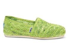 Neon Lime Crochet Women's Classics | TOMS.com #toms