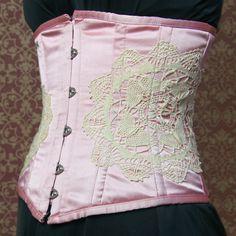 Antique lace corset
