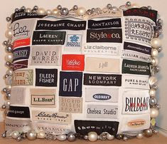 from now on, before I throw out old clothes im going to remember to remove the labels and make this someday
