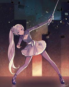 Rwby Anime, Rwby Fanart, Otaku Anime, Blonde Anime Girl, Anime Art Girl, Anime Girls, Rwby Weiss, Little Misfortune, Team Rwby