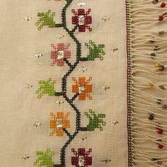 Instagram photo by @tanyaoztrk (Tanya Ozturk) | Iconosquare Cross Stitch Borders, Cross Stitch Flowers, Cross Stitch Designs, Cross Stitch Patterns, Embroidery Applique, Cross Stitch Embroidery, Embroidery Patterns, Turkish Art, Bargello