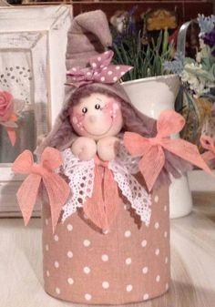 Goodie Bags, Ideas Para, Gift Wrapping, Teddy Bear, Dolls, Fabric, Gifts, Fabric Dolls, Feltro