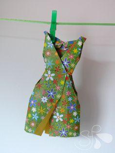vestido origami