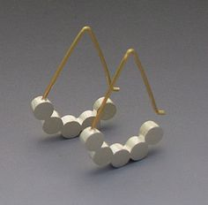 Five Dot Earring: Elisa Bongfeldt: Silver Earrings | Artful Home