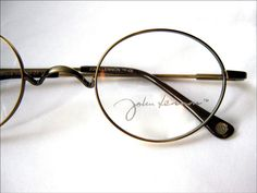 Glasses Frames John Lennon : Peace John Lennon Eyewear Round Metal Unique Eyeglass ...