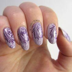 Purple Swirl Nails Using MoYou London Zodiac 09 Libra