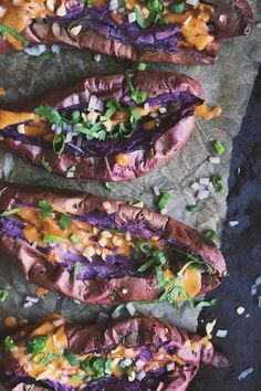 Thai Stuffed Sweet Potatoes with Red Curry Peanut Sauce | Guest post by With Food + Love via 80twenty
