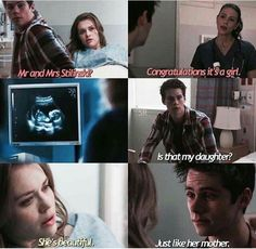 Awwwwww Lydia Stiles and their first picture of little Alison Ariel Martin-Stilinski ❤️❤️❤️