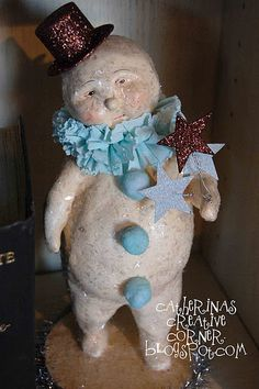 "*SNOWMAN ~ ""Vintage by Bethany"" Snowman Figurine"