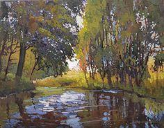Spring On The Creek by Jan Schmuckal Oil ~ 11 x 14