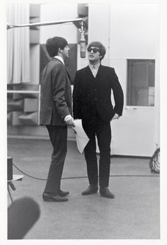 This is a shot I took of John an Paul in the studio.