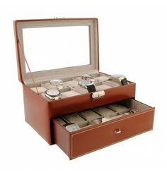 Caja de piel para guardar 20 relojes - Paula Alonso - Tienda online