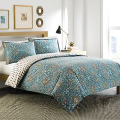 City Scene Milan Turquoise Comforter & Duvet Set #BackToSchool #Dorm #Apartment #Loft