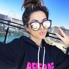 60 Fashionable sunglasses for beautiful woman - Cat Eye Sunglasses, Round Sunglasses, Mirrored Sunglasses, Sunglasses Women, Vintage Sunglasses, Sunglasses Sale, Quay Australia, Square Faces, Sunglass Frames
