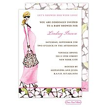 47 best pregnant baby bump invitations images on pinterest pregnant momma baby shower invitation pink silhouette baby bump blonde hair maxi dress from filmwisefo