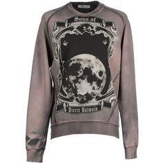 Pierre Balmain Sweatshirt (985 BRL) ❤ liked on Polyvore featuring men's fashion, men's clothing, dove grey and pierre balmain