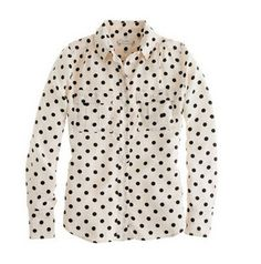 J.Crew Blythe blouse in polka dot $128 http://outfit-ideas.com/black-and-white-outfits-from-winter-to-spring