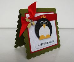 Penguins, my favorite!  Another way to make one with punches!