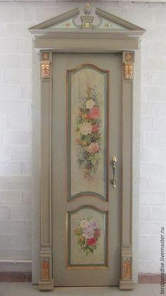 Door - Tür Cool Doors, Unique Doors, House Painting, Painting On Wood, Door Entryway, Antique Paint, Hand Painted Furniture, Painted Doors, Door Knockers